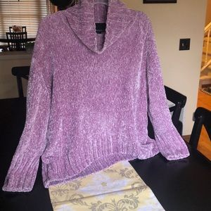 Chenille Cowl Neck Sweater